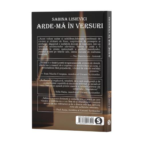 Arde-mă în versuri - Sabina Lisievici